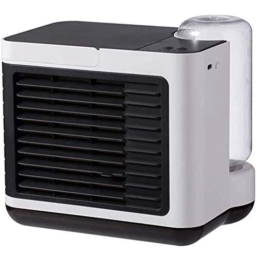 XXY-shop Sommer Personal Space Klimaanlage, Verdunstungsluftkühler, Desktop-USB-Lüfter, Nachtlicht abnehmbarem Wassertank, 3-Gang-Kühlung, Mini-Klimaanlage das Home Office, Weiß