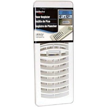 Deflect O 4 X 12 Inche White Floor Register Heating Vents Amazon Com