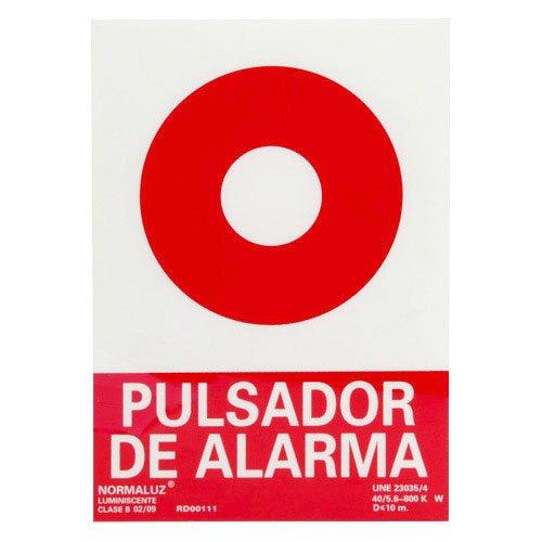 Wolfpack Linea Profesional 15051210 Cartel Pulsador Alarma 30x21