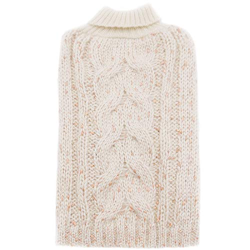 kyeese Dog Sweater Knit Pullover Doggie Sweaters Warm Pet Sweater for Fall Winter with Golden Glitter Decors