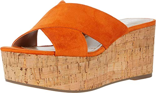 CHARLES BY CHARLES DAVID Women's Wedge Sandal Platform, Orange, 9