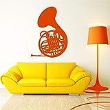 Ajcwhml Wind Musikinstrument Französisch Horn Blaskapelle Musikstudio Aufkleber Home...