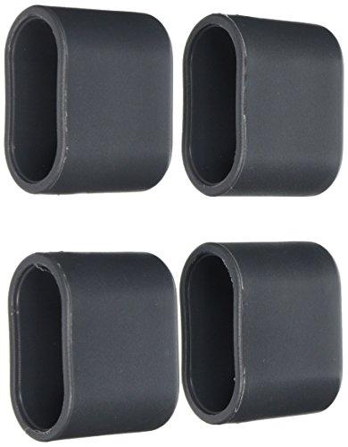 greemotion Fußkappen für Klappsessel Toulouse grau, 4-tlg., Ersatzkappen aus hochwertigem Kunststoff, gegen Verrutschen und Verkratzen, Artikelmaße ca. 40mm x 20mm x 35mm