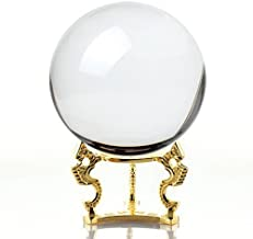 Amlong Crystal Clear Clear Crystal Ball 110mm (4.2 in.) Including Golden Dragon Stand and Gift Package