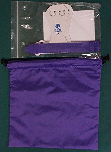 Beginner Rainbow Hook and Loop Gymnastics Grips & Grip Bag Combo (Purple, Small)