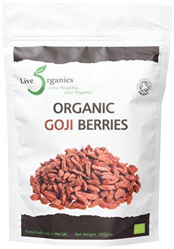 Live Organics Goji Berries 250g - (Certified Organic)