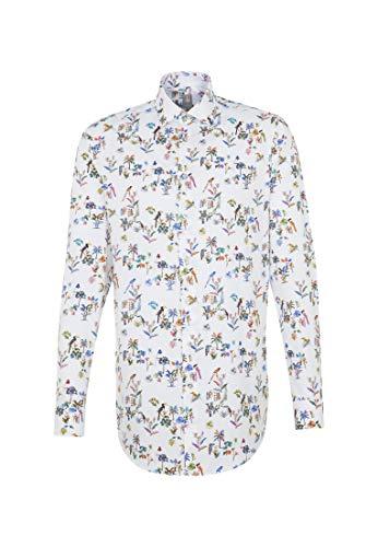 Jacques Britt Herren Business Hemd Custom Fit Langarm Kentkragen Bügelleicht
