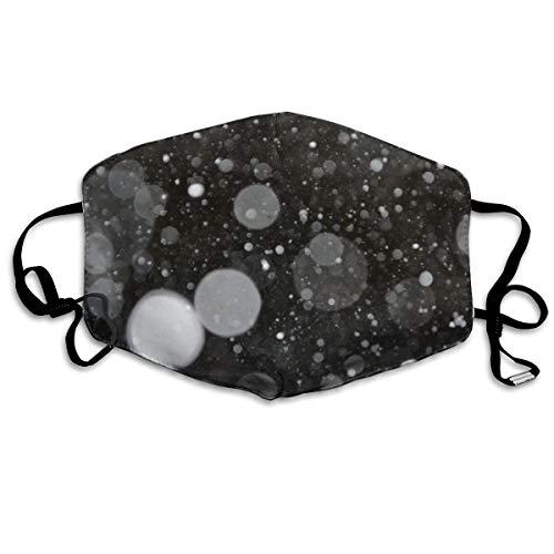 Astronomie zwart en wit vervagen heldere bubbels 0 Unisex volledige dekking buis gezicht masker Bandanas UV bescherming nek Gaiter hoofdband