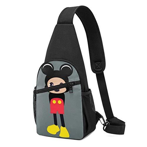 Trista Bauer Sling Bag - Mi-CK-EY-Mouse Baby Crossbody Sling Mochila Viaje Senderismo Bolsa de Pecho Mochila para Mujeres Hombres