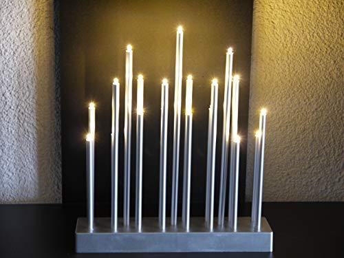 Bella-Vita GmbH LED Stimmungsleuchte 19 flammig batteriebetrieben Dekoleuchte Dekolampe Fensterbeleuchtung (silberfarben) (silberfarben)