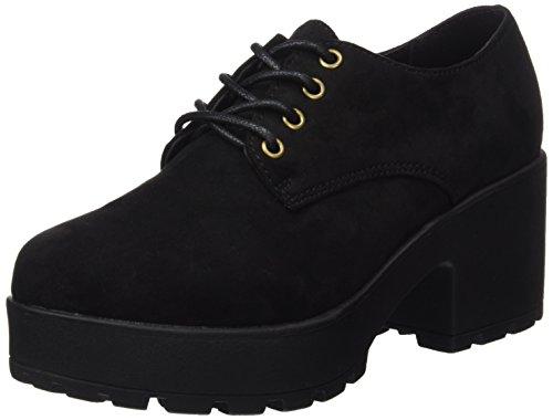 COOLWAY Cruise, Zapatos de Cordones Oxford Mujer, Negro (Black 000), 38 EU
