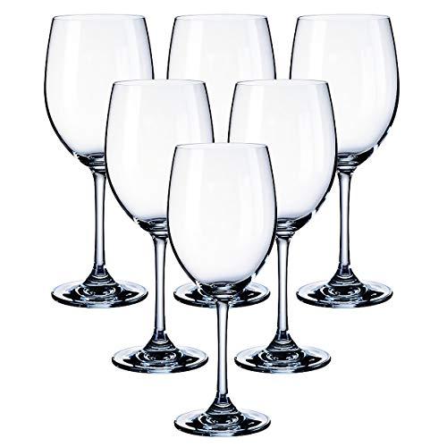 Kingrol - Juego de 6 copas de vino (326 ml), diseño clásico para uso diario,...