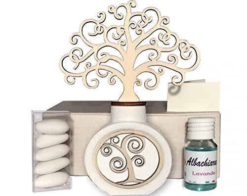 Regalami.shop, profumatore albero cm. 14,5. Bomboniera per Matrimonio, Battesimo, Nascita, Prima Comunione, Cresima