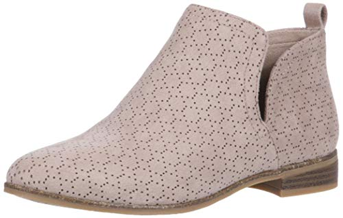 Dr. Scholl's Shoes Women's Rate Ankle Boot, Putty Perforated Microfiber Suede, 7.5 M US