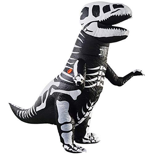Disfraz inflable de Navidad del dinosaurio de Halloween, disfraz hinchable del dragón de las costillas multicolor para niños 1,2 – 1,5 m