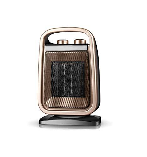 CMmin Tragbare Elektrische Einstellbare Thermostat-Lüfte Elektrischer Mini-Heizventilator des keramischen Raumheizgeräts mit Rotationsfunktion über-Wärme- und Tippschutz for Büro- und Heimgebrauch