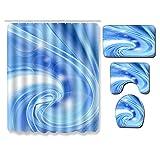 MMHJS Patrón De Gradiente Cortina De Ducha Impermeable Sala De Ducha Antideslizante Alfombrilla para El Suelo Alfombrilla para Baño Baño Combinación De Alfombrilla De 27 Piezas
