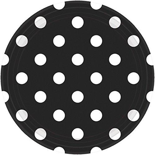 Amscan International 551537–10 Assiettes en Carton de 23 cm de Pois