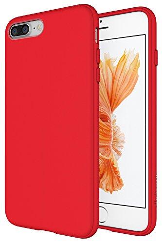 Diztronic IP7P-FM-RED Custodia in TPU per Apple iPhone 7 Plus, Rosso