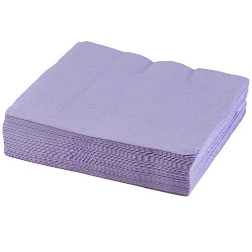 "JAM Paper Medium Lunch Napkins - 6 1/2"" x 6 1/2"" - Lavender - 50/Pack"
