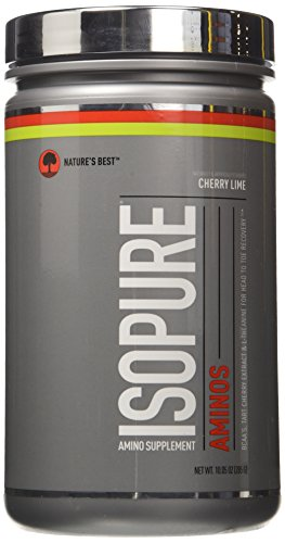Isopure Amino Supplement, Vitamin C for Immune Support, 5g BCAAs, Essential Amino Acids and L-Theanine, Flavor: Cherry Lime, 30 Servings