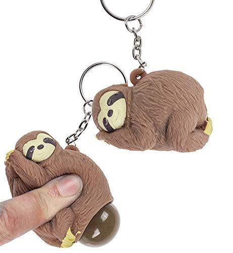 OOTB EIN Faultier Schlüsselanhänger Poo - Antistress Animal Toy - ungewöhnliche und lustige Schlüsselanhänger Geschenkidee