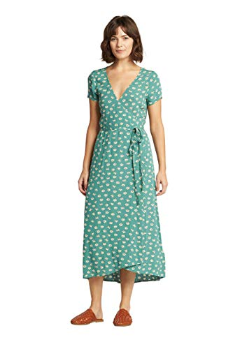 Billabong Women's WRAP Front MIDI Length Dress, Island Green, M