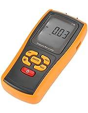 【𝐏𝐚𝐬𝐜𝐮𝐚】 Manómetro digital, GM510 Pantalla LCD digital portátil Manómetro de presión 10kPa Manómetro 11 unidades Prueba