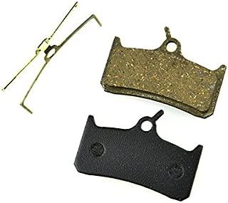 Juscycling Resin Organic Semi-Metal Brake Pads for Shimano M755 DH Hope Mono M4,Smooth Braking,Low Noise, Long Life, Kevlar, Copper