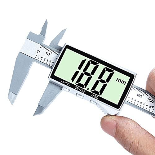 デジタル ノギス 150mmノギス LCDディスプレー 外径 内径 深さ 段差測定 ゼロリセット 防水防塵 測定工具 精密作業大工DIY【電池付】