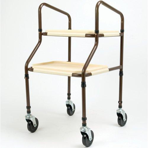 Days Flach verpackt Höhenverstellbare Kunststoff Regalwagen, Organizer Regal mit Rollen, höhenverstellbar Trolley ist Ideal für Lagerung und Organisation, Easy Clip auf Regalen zu entfernen