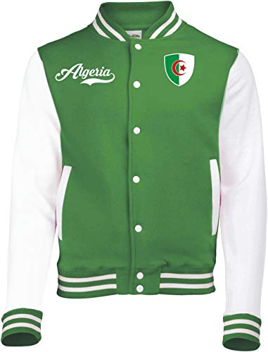 aprom Algerien College Sweat Jacke - Retro - grün (M)