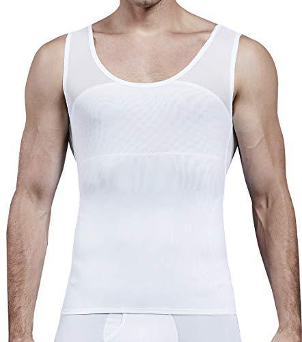 MISS MOLY Faja Reductora Camiseta de Tirantes Compresión para Hombre Chaleco Adelgazante Abdomen Camisa Moldeador Body Shaper Ropa Interior para Ocultar Ginecomastia Moobs ✅