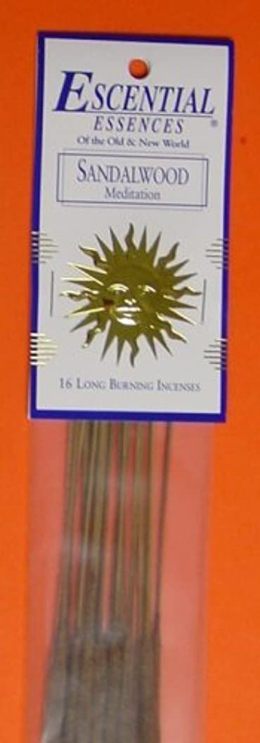 乳好戦的なホーンSandalwood - Escential Essences Incense - 16 Sticks [並行輸入品]