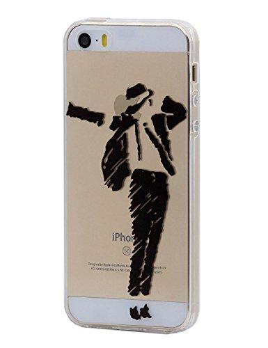 Keyihan iPhone 5 / 5S /SE Cover Custodia Interessante Divertente Modello Leggero Sottile Morbido Trasparente Chiaro TPU Silicone Protettiva Caso per Apple iPhone 5/5S/SE (Danza)