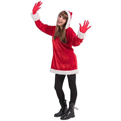 Carnival Toys Costume Natale Donna per Adulti, Multicolore, Taglia Unica 27040