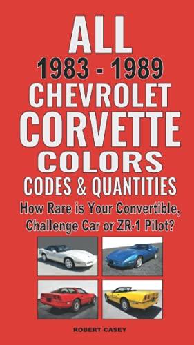 All 1983-1989 Chevrolet Corvette Colors, Codes & Quantities: How Rare is your Convertible, Challenge Car or ZR-1 Pilot?