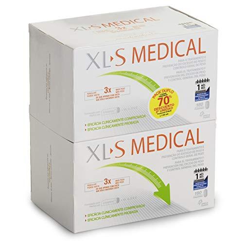 XL-S Medical Captagrasas para Perder Peso - Capta 28% de la Grasa Ingerida1 - Comprimidos para Adelgazar - Pack 2 x 180 Comprimidos, 2 Mes de Tratamiento