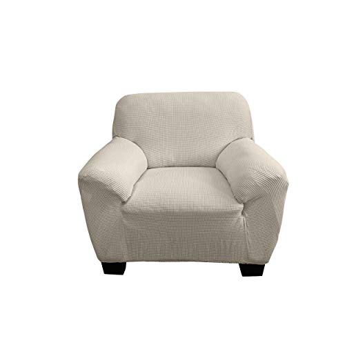 RESIDENZ Sofa Überwürfe Jacquard Sofabezug Elastische Stretch Spandex Couchbezug Sofahusse Sofa Abdeckung in Verschiedenen Größen und Farben 1er 2er 3er - Schutz vor Dreck