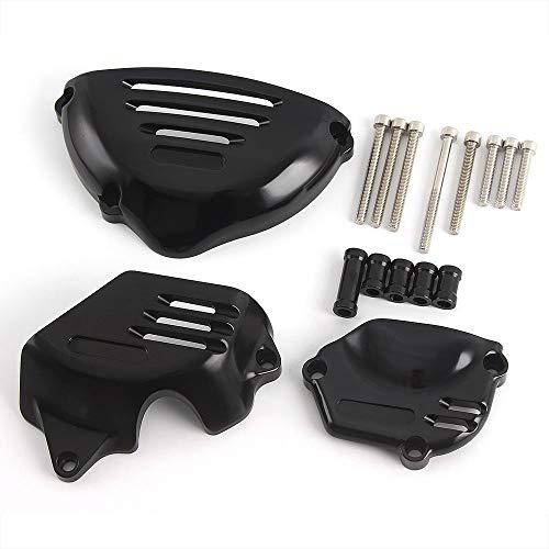 オートバイ CNCアルミニウム エンジン ガード ステーター カバー 側 保護 フレーム スライダー 2018 2019 Z900RS Z900 RS (Black)