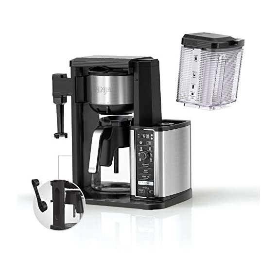 Ninja specialty fold-away frother (cm407) coffee maker, single serve to 10 cup (50 oz. ) 8 specialty brew: brew super rich coffee concentrate that you can use to create delicious lattes, macchiato, cappuccinos, and other coffeehouse style drinks iced coffee: brew fresh over ice for flavorful iced coffee that's never watered down 6 brew sizes: brew anything from a single cup or travel size to a half carafe or a full carafe in your coffee maker