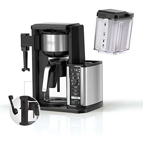 Ninja Specialty Coffee Maker, with 50 Oz. Glass Carafe, Black and Stainless Steel Finish
