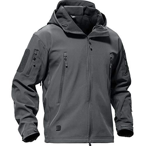 Casivent Herren Taktische Armee Outdoor Mantel Camouflage Softshell Jacke Jagdjacke S grau