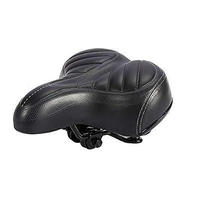 Gel Bike Seat Bicycle Saddle - Comfort Cycle Saddle Wide Pad,Big Bum Bike Bicyle Cushion Gel Pad, Saddle Seat for Sporting Road Bike, Spinning Exercise Bikes