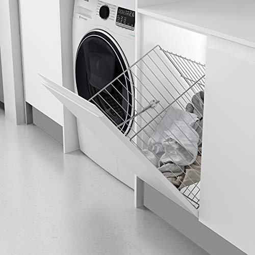 Casaenorden - Cesto para Ropa Sucia abatible de Rejilla para Mueble de Cocina - Ancho Puerta 300mm