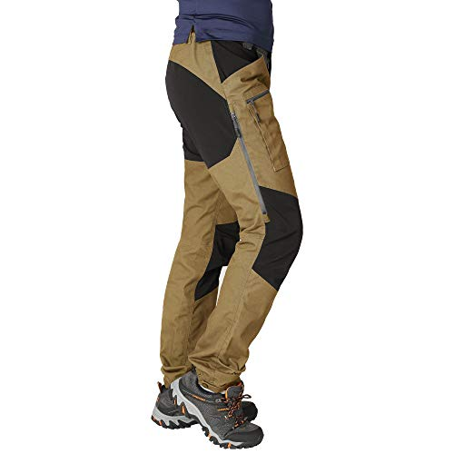 ZOOMHILL Mens Pro Hiking Stretch Pants Cargo Trouser Water-Resistant Tactical Outdoor Working Pants (Chipmunk, XL)