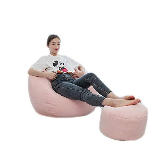 LDIW Premium Riesen-Sitzsack-Hülle Sitzsack Außenbezug, Einfarbiges einfaches Design Wechselbezug für birnenförmigen Sitzsack mit Reißverschluss, Ohne Füllstoff,Flesh pink,L