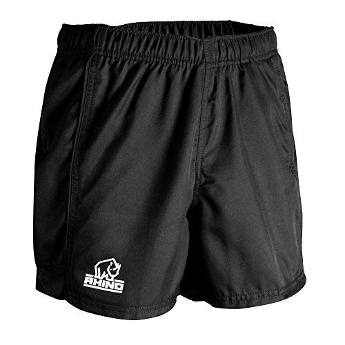 Rhino Mens Auckland Rugby Shorts (XL) (Black)