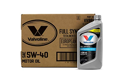 Valvoline European Vehicle Full Synthetic SAE 5W-40 Motor Oil 1 QT, Case of 6