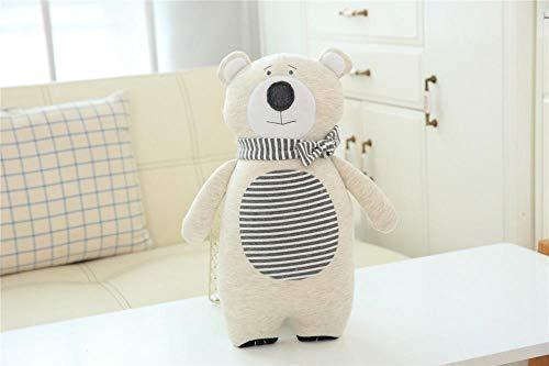 YZHCMKA-N Almohada de Dibujos Animados Muñeca Bebé Confort Juguete de Felpa Niños y niñas Almohada de Arte de Tela encantadora-45X22Cm_Jersey_Bear